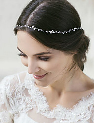 cheap -Gemstone & Crystal Tulle Alloy Headbands Headpiece with Crystal Feather 1 Wedding Special Occasion Halloween Anniversary Birthday New