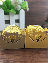 50pcs Bow Tie Design Wedding Decoration Birthday Party Favors Supplies Chocolate Candy Box Bar Cake Kids Baby Shower Supplies.