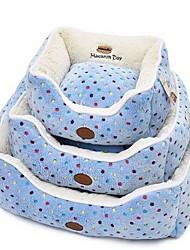 preiswerte -Hund Betten Haustiere Matten & Polster Punkt Abdruck / Paw Warm Weich Waschbar Blau Rosa Für Haustiere