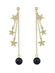 economico -Per donna Orecchini a goccia Gioielli Classico Di tendenza Adorabile Stile semplice Perle finte Perla rosa Perla Nera Lega Rotondo A