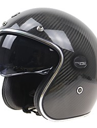 Casque Bol Solidité Durable Résistant aux impacts Fibre de Carbone + EPS Casques de moto