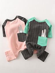 Недорогие -Собака Комбинезоны Одежда для собак Кролик Серый / Розовый Хлопок Костюм Для домашних животных Муж. / Жен. На каждый день