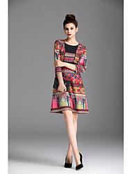 preiswerte -Damen Hülle Kleid - Druck, Solide