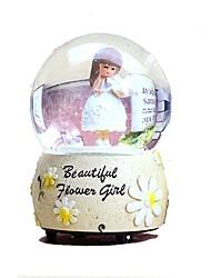 cheap -Balls Music Box Snow Globe Round Furnishing Articles Girls' Gift