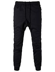 cheap -Men's Mid Rise Micro-elastic Harem Sweatpants Pants,Casual Solid Cotton All Seasons