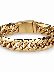 Kalen African Gold Color Link Chain Bracelets For Men 21.5cm Stainless Steel Hand Chain Bracelets Fashion Accessories Jewelry
