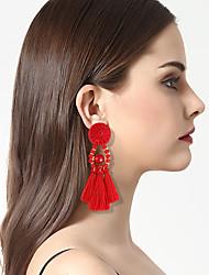 cheap -Women's Drop Earrings Hoop Earrings Tassel Bohemian Personalized Gothic Acrylic Resin Alloy Jewelry For Street Club