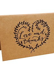 Top Fold Wedding Invitations 10-Thank You Cards Parchment Paper