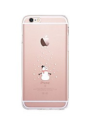 Per iPhone X iPhone 8 Custodie cover Transparente Fantasia/disegno Custodia posteriore Custodia Natale Morbido TPU per Apple iPhone X
