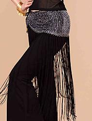 cheap -Belly Dance Hip Scarves Women's Performance Mesh Sequined Copper Coins Tassel(s) Paillettes 1 Piece Hip Scarf