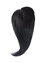 Uniwigs® Remy Human Hair Mono Hairpiece Closure Hair Topper 1B Color Straight for Hair Loss