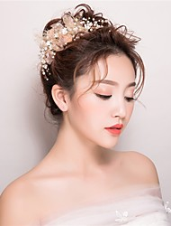 cheap -Imitation Pearl Headbands Flowers 1 Wedding Special Occasion Birthday Party / Evening Casual Headpiece