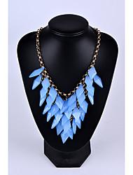 abordables -Mujer Forma de Cerilla Collares Declaración Piedras preciosas sintéticas Legierung Collares Declaración , Boda Fiesta Ocasión especial