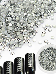 cheap -1pcs Glitter Rhinestones Nail Jewelry DIY Supplies 3-D Glitters Crystal Artistic Fashionable Jewelry Luxury Geometric Jeweled Accessories