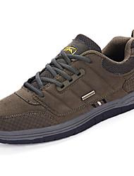 abordables -Homme Chaussures Polyuréthane Printemps Automne Confort Basket Randonnée Lacet pour De plein air Noir Marron Vert Véronèse