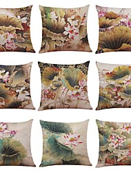 cheap -9 pcs Linen Pillow Case Pillow Cover, Textured Tropical Beach Style Traditional/Classic Modern/Contemporary