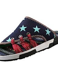 preiswerte -Herrn Schuhe Denim Jeans Sommer Herbst Komfort Slippers & Flip-Flops Wasser-Schuhe für Sportlich Normal Draussen Blau