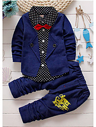 Boys' Polka Dots Sets,Cotton Spring Long Sleeve Clothing Set