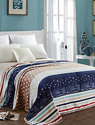 cheap -Coral fleece, Printed City Polyester/Cotton Blend Blankets