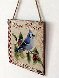 cheap -European and American wooden Christmas birds are listed for Christmas Eve Christmas bird wooden hanging board