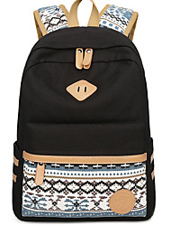 cheap -Women Bags Canvas School Bag Zipper for Casual Fall All Seasons Black