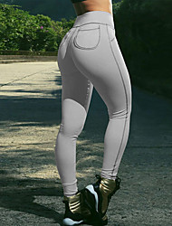 Da donna A vita medio-alta Sensuale Divertente Media elasticità Chino Pantaloni della tuta Pantaloni,Taglia piccola Tinta unita