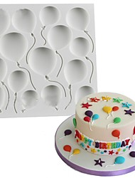 cheap -Birthday/Party BALLOONS Fondant Cake Silicone Molds Cupcake Mould Baking Tools Chocolate  Confeitaria Random Color
