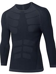 Homens Camiseta Segunda Pele Manga Longa Respirabilidade Elasticidade Alta Leve Camiseta Pulôver Roupas de Compressão Blusas para Correr