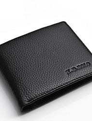 cheap -Men's Bags Cowhide Money Clip for Shopping / Daily Black