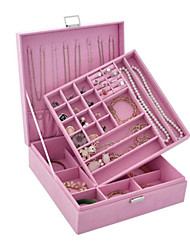 1Pc Violet Open Type  Jewelry Box Ring Earrings Storage Box