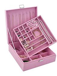 1pc violet ouvert type bijoux boîte anneau boucles d'oreilles boîte de rangement