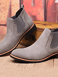 cheap -Men's Boots Bootie Combat Boots Fall Winter Suede Casual Party & Evening Outdoor Black Gray 1in-1 3/4in