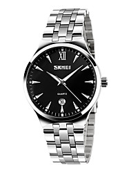 cheap -SKMEI Men's Fashion Watch Wrist watch Quartz Stainless Steel Band Silver
