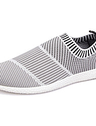 Men's Sneakers Light Soles Spring Fall Knit Casual Flat Heel White Black Flat