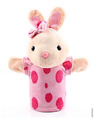 Недорогие -Пальцевые куклы Rabbit Утка Лошадь Лев Овечья шерсть Зебра Обезьяна Животные Милый Хлопковая ткань Взрослые Подарок