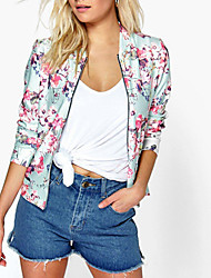 cheap -Women's Simple Jacket Print