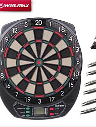 Winmax® Indoor Sport Scoring board Dartboard Set LED Display 6 darts Electronic Dart Board Display 21 Games Voice Soft tipDarts