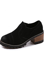 cheap -Women's Loafers & Slip-Ons Comfort Spring Fall Leatherette Casual Low Heel Black Brown Green Under 1in