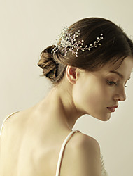 cheap -Crystal Hair Combs Flowers 1 Wedding Special Occasion Anniversary Birthday Party / Evening Headpiece