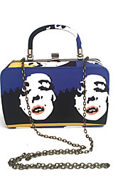 cheap -Women Bags Metal Tote Dyed Metal Chain Stripe Chain for Wedding Event/Party Formal Spring Summer Navy Blue