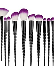 cheap -10pcs Black Unicorn Contour Makeup Brush Set Blush Brush Eyeshadow Brush Concealer Brush Powder Brush Foundation Brush Synthetic HairProfessional