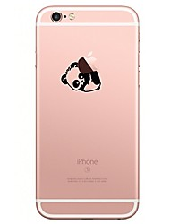 For iPhone X iPhone 8 Case Cover Transparent Pattern Back Cover Case Playing with Apple Logo Cartoon Panda Soft TPU for Apple iPhone X