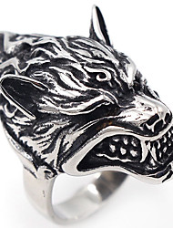 Men's Jewelry Punk Hip-Hop Gothic Costume Jewelry Stainless Steel Wolf Jewelry For Halloween Stage Club