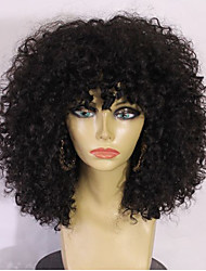 cheap -Human Hair Full Lace Wig Brazilian Hair Kinky Curly Layered Haircut With Baby Hair 130% Density 100% Hand Tied 100% Virgin African