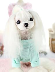 Cane Gilè Abbigliamento per cani Casual Lettere & Numeri Giallo Verde Blu Rosa