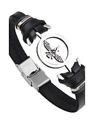 cheap -Men's / Women's Leather Bracelet - Stainless Steel, Leather Bird, Anchor Personalized, Punk, Fashion Bracelet Black / Brown For Gift / Daily / Casual