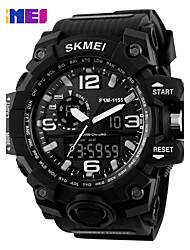 cheap -Men's Sport Watch Skeleton Watch Military Watch Quartz Digital 30 m Water Resistant / Water Proof Alarm Calendar / date / day Silicone Band Analog-Digital Charm Luxury Casual Multi-Colored - Black