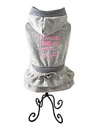 Chien Robe Vêtements pour Chien Chaud Décontracté / Quotidien Sportif Solide Gris Fuchsia Costume Pour les animaux domestiques