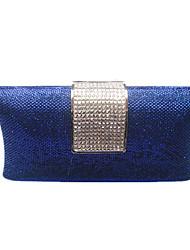 Femme Sacs Printemps Eté PVC Sac de soirée Cristal pour Mariage Soirée / Fête Or Noir Bleu marine