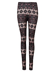 Women's Mid Rise Stretchy Skinny Pants,Boho Sexy Vintage Simple Skinny Lace Cut Out Jacquard Plaid Camouflage